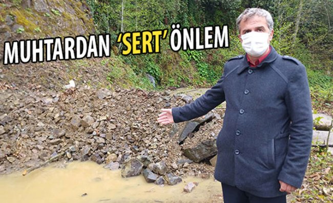 Koronavirüse Karşı Köy Girişini Kayalarla Kapattı