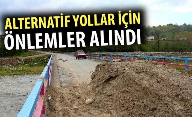 Rize-Trabzon Arasındaki Alternatif Yollar Kapatıldı