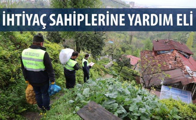 Rize Belediyesi'nin Gıda Yardımları Sürüyor
