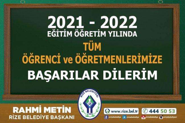 BAŞKAN METİN'DEN 2021-2022 EĞİTİM YILI MESAJI